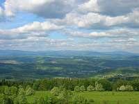 pohled do krajiny z Kozákova (2km. od chalupy)