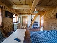 Obývací pokoj - chalupa k pronajmutí Libuň - Březka