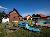 Venkovní bazén - chalupa ubytování Libuň - Březka