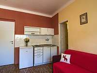 kuchyňka na apartmánu