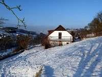 Pohled na sjezdovku struhy Turnov - chalupa ubytování Chloumek