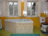 koupelna,záchod - chalupa k pronajmutí Kobyly