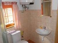 Toaleta. - pronájem chaty Pelešany