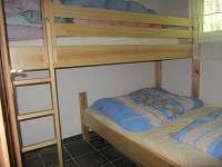 Ložnice - chata ubytování Staré Splavy