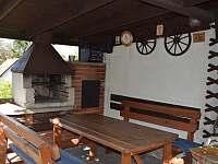 Pergola detail - chata ubytování Jičín - Dvorce