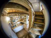 Apartman Basco - pohled od mezonetové ložnice - k pronájmu Malá Skála