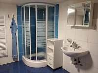 sprchový kout v koupelně - pronájem chalupy Benešov u Semil