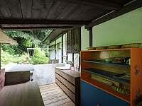 chatička Spálov - letní kuchyňka - k pronajmutí