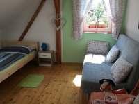 Ložnice 1 - apartmán k pronájmu Radvánovice