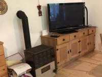 Televize a kamna - pronájem chalupy Chuchelna