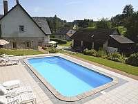 Stupná Hoeve - bazén - chalupa ubytování Vidochov - Stupná