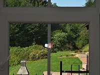 Stupná Hoeve - pohled na venkovní terasu - chalupa k pronajmutí Vidochov - Stupná
