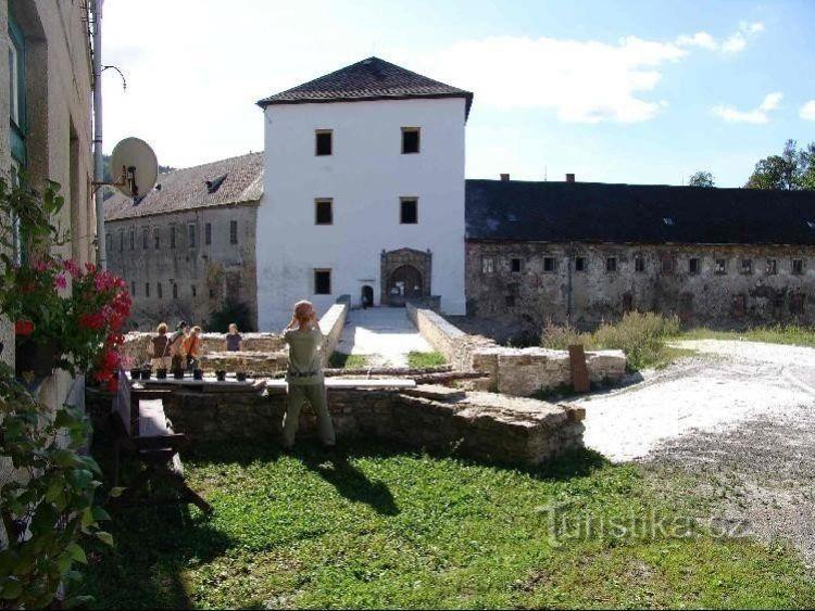 Branná - zámek a zřícenina hradu