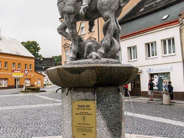 Chřibská – socha sv. Jiří