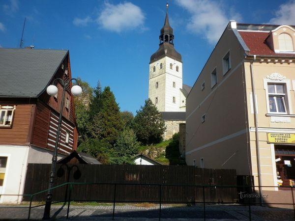 Chřibská - kostel svatého Jiří