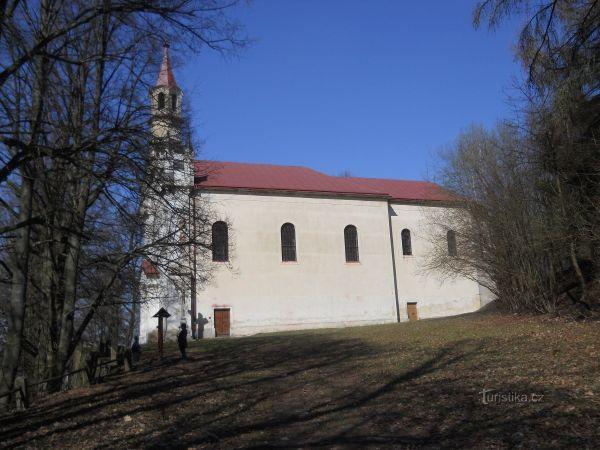 Cizkrajov - poutní kostel Panny Marie Montserratské