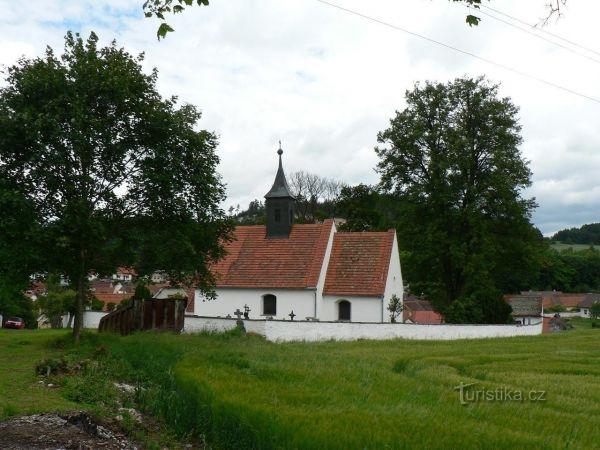 Hejná – kostel sv. Filipa a Jakuba.