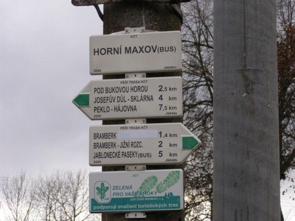 Horní Maxov - turistický rozcestník