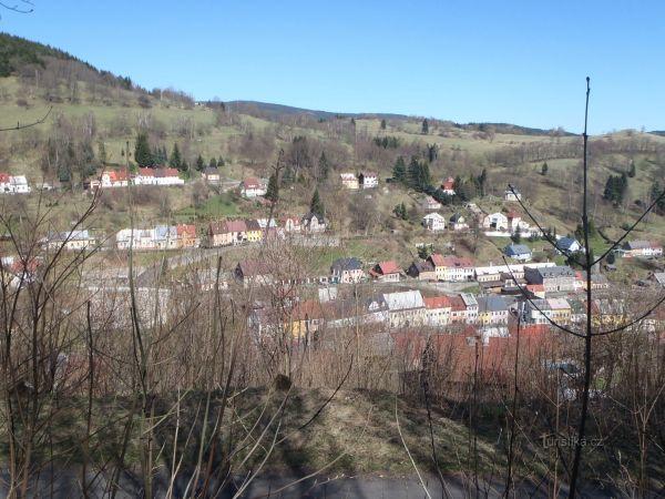 Jáchymov, horní část města
