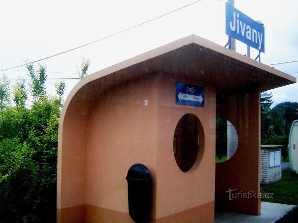 Jivany - železniční stanice