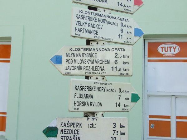 Kašperské Hory, rozcestník