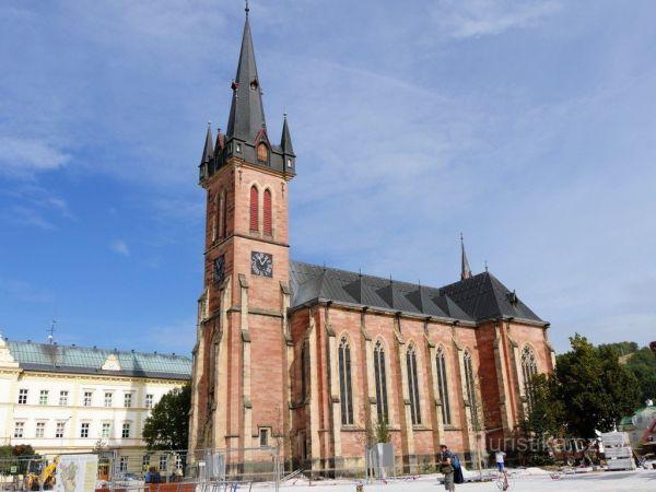 Kostel sv. Vavřince ve Vrchlabí.