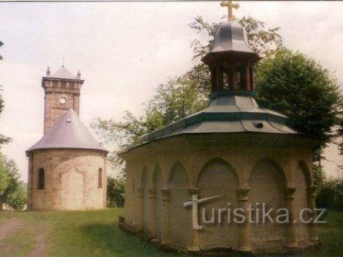 Křížová hora v Jiřetíně pod Jedlovou - Lužické hory.