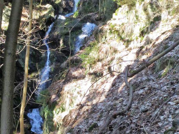 Kýšovický vodopád – nejvyšší vodopád Krušných hor.