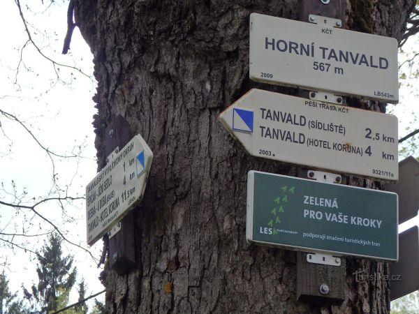 ROZCESTÍ HORNÍ TANVALD