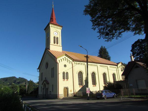 Růžďka - evangelický kostel