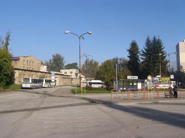 Semily - autobusové nádraží