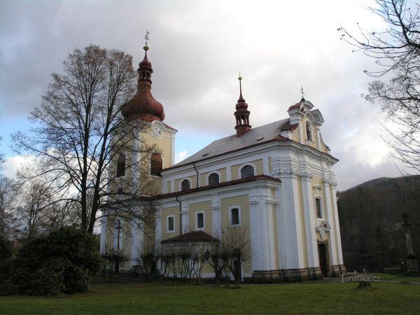 Sloup v Čechách - kostel svaté Kateřiny