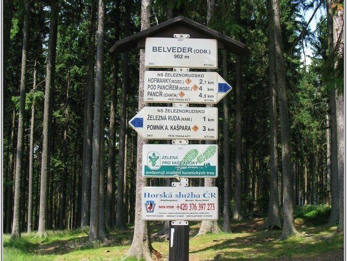 Turistické rozcestí Belveder