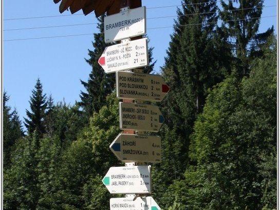 Turistické rozcestí Bramberk