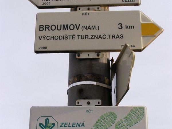 turistické rozcestí - Broumov, Olivětín