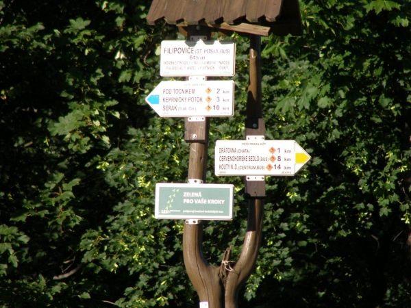 turistické rozcestí Filipovice