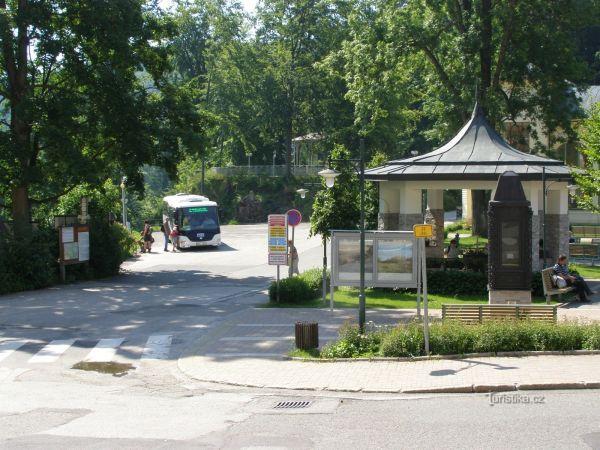 turistické rozcestí Janské Lázně - centrum