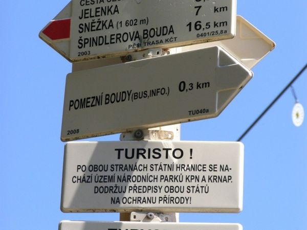 turistické rozcestí Nad Pomezními Boudami