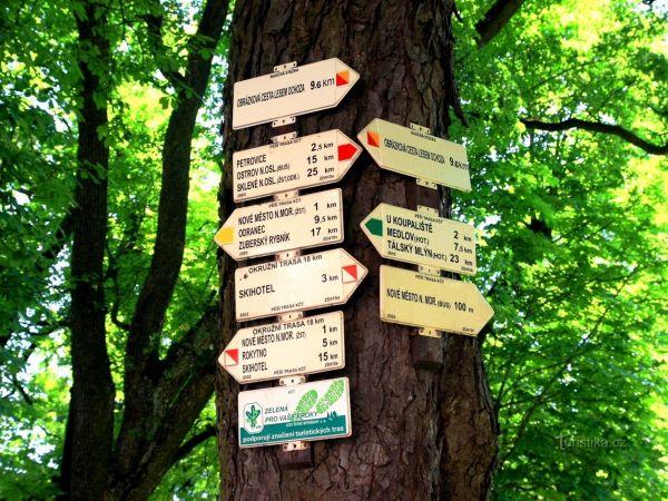 Turistické rozcestí Nové Město na Moravě-náměstí