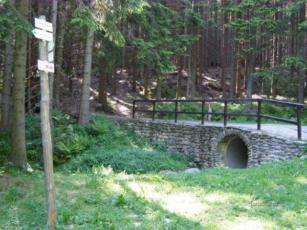 turistické rozcestí Pod Jelenkou