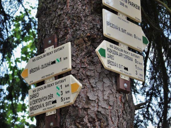 Turistické rozcestí Pod lanovým parkem