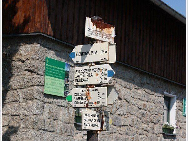 Turistické rozcestí Srní