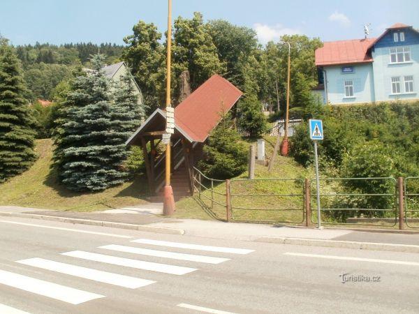 turistické rozcestí Svoboda nad Úpou - u nádraží