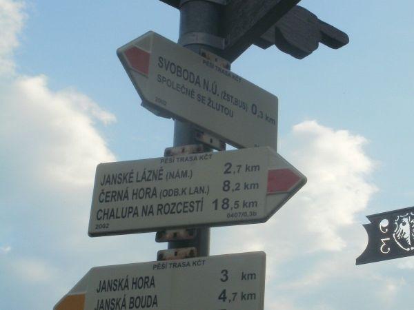 turistické rozcestí Svoboda nad Úpou - ulice 5. května