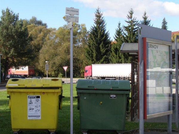 turistické rozcestí Turnov - autobusové nádraží