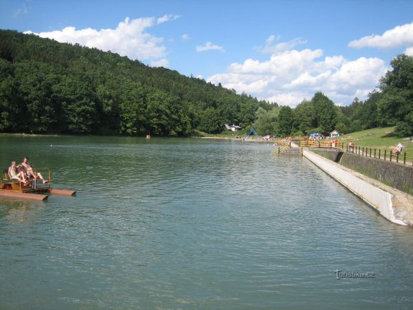 Umělá vodní nádrž Lučina - Strážnicko