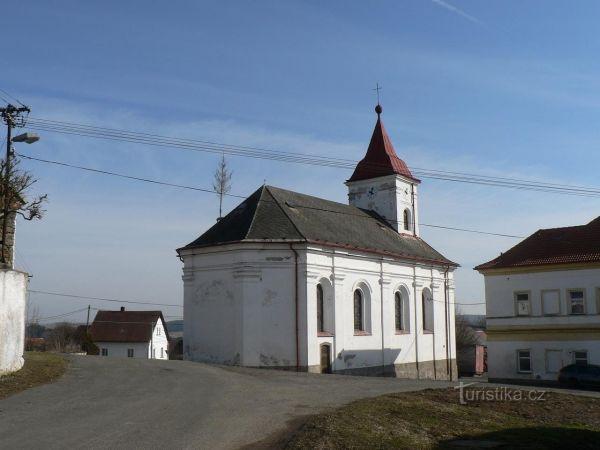 Velenovy – kostel sv. Jana Nepomuckého.