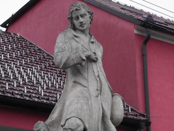Velké Bílovice – socha sv. Vendelína