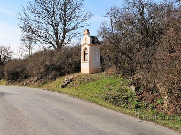 Velké Hydčice, kaplička sv. Jana z Nepomuku.