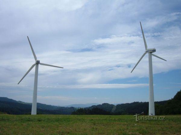 Větrné elektrárny Ostružná